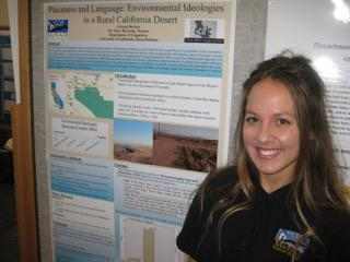 Joleana Shurley (McNair Scholar) with research, Summer 2015