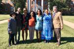 Dr. Charity Hudley with UCSB Ling grad students and Prof. Mary Bucholtz at VSU, as part of new UC-HBCU initiative
